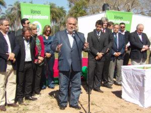 Gobernador Ricardo Colombi en Santa Ana de los Guácaras
