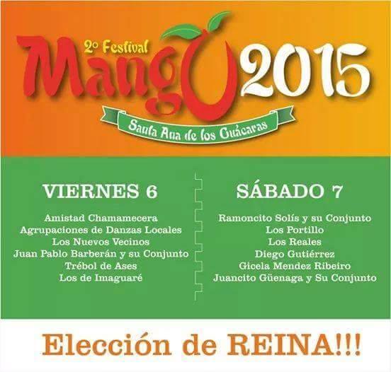 banner Festibal del mango en Santa Ana Corrientes