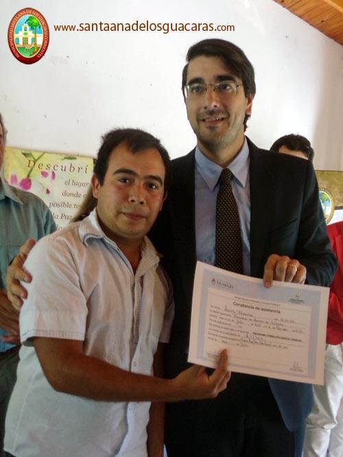 El Subsecretario de Trabajo de Corrientes, Jorge Rivolta, presente en Acto Entrega de Certificados
