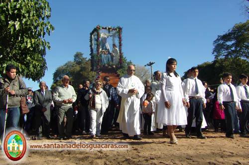 Tradicional Procesión en honor a Santa Ana