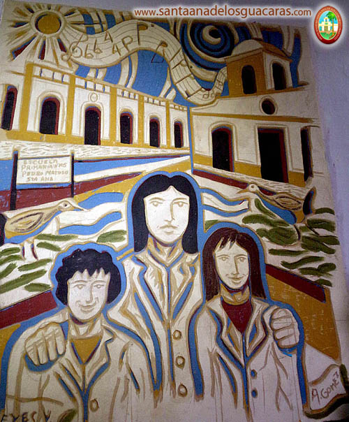Mural en el interior de la Escuela Primaria